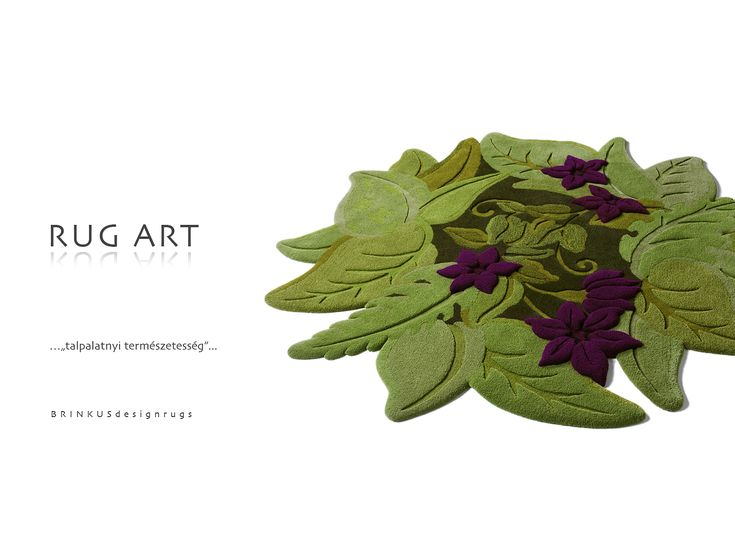 """Springtide"" - 3D hand-tufted rug"
