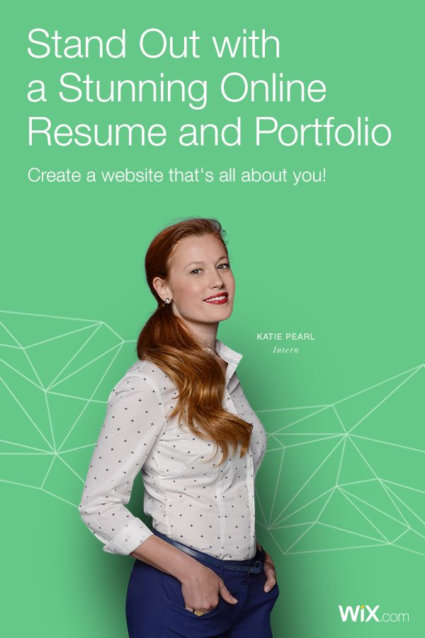 create a stunning personal website whether for a resume portfolio or event show