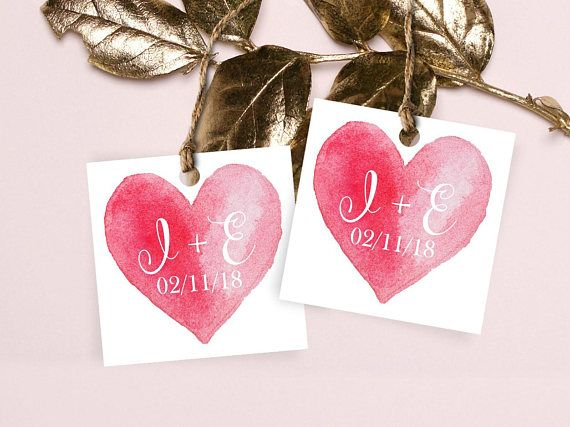 Engagement Favor Tags. Love Tags. Wedding Tags. Love Labels.