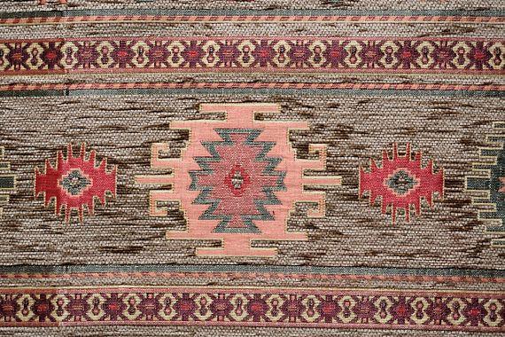 Brown Chenille FabricCarpet FabricEthnic FabricKilim