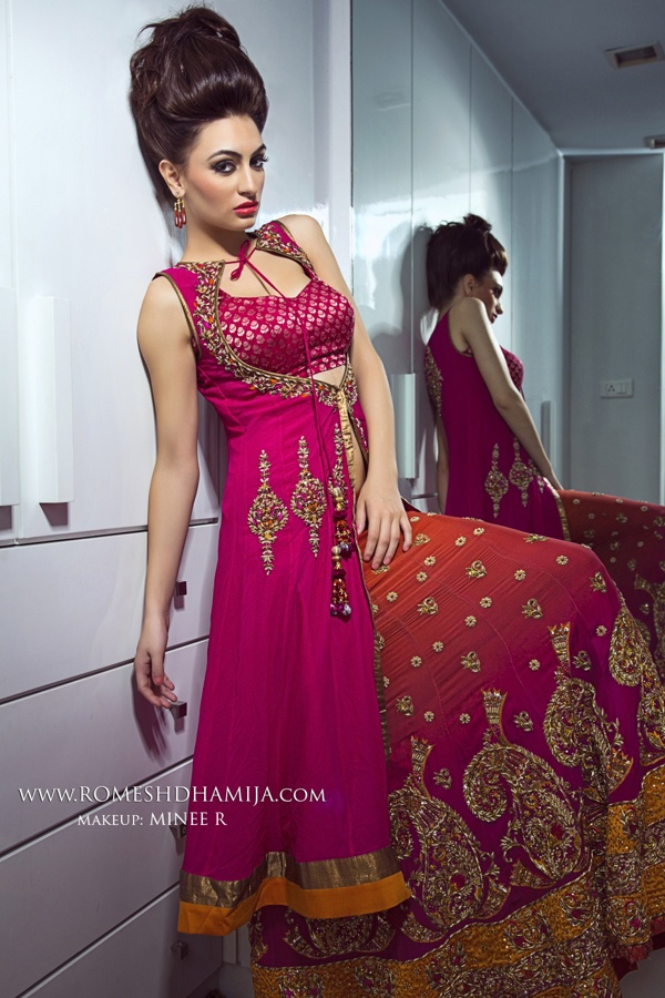 Indian Bridal Wear by Romesh Dhamija, via Behance