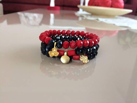Boho Chic Bracelet Gypsy Bracelet Birthday Gift Triple