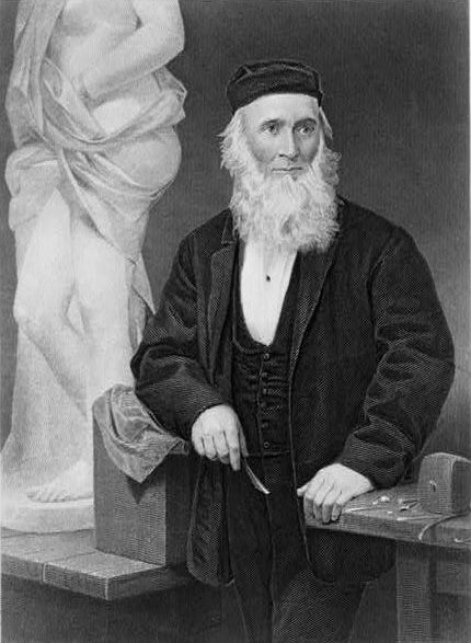 Hiram Powers, engraving from a portrait by Alonzo Chappel