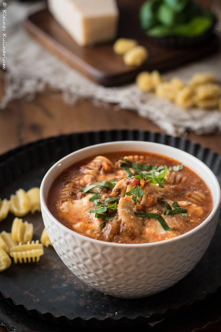 Lasagne Suppe - kinderleicht und super schnell gemacht.