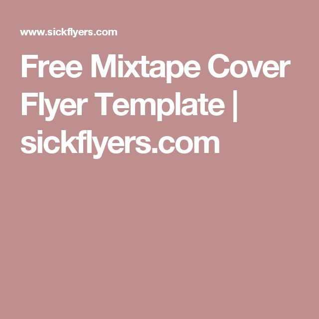 Free Mixtape Cover Flyer Template | sickflyers.com