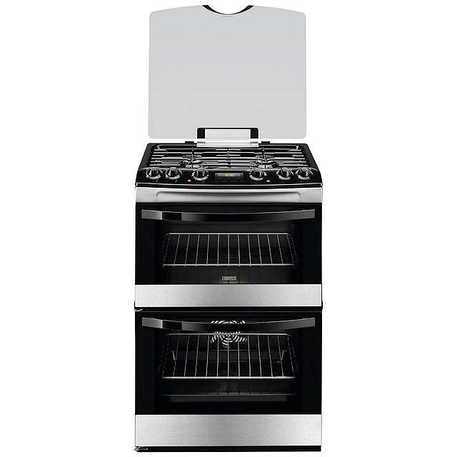 BuyZanussi ZCK68300X Dual Fuel Cooker, Stainless Steel Online at johnlewis.com