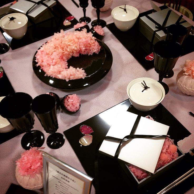 pink&Black Tabledecoration