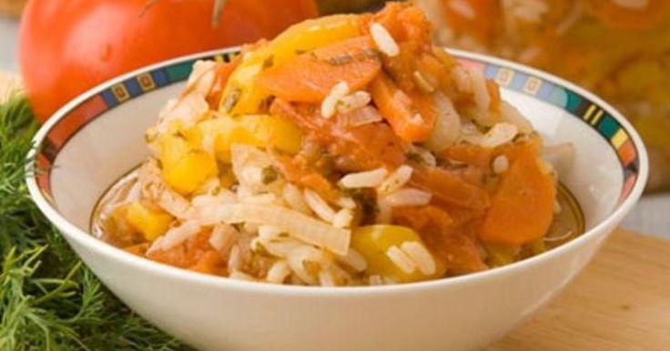 Салат из кабачков с рисом на зиму рецепт с фото - 1000.menu