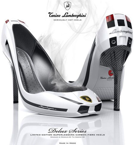 Lamborghini Gallardo heels. Try driving the car with these on.