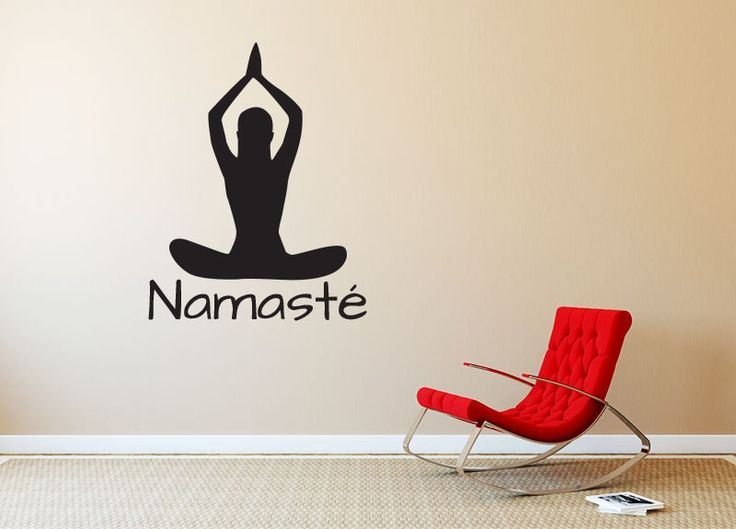 """Namasté Yoga Silhouette #2 Wall Decal - We offer many sizes and custom sizes are also available on request. 36"""" tall shown in product image.This is easy to install and comes with application instructions and an application squeegee. Can be removed without damaging walls. Sticker Hog Vinyl Wall Decals are great for decorating interior walls."""