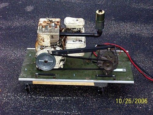 homemade generator. Emergency Generator By Broken1 -- Homemade Constructed From A Gasoline Engine, Alternator R