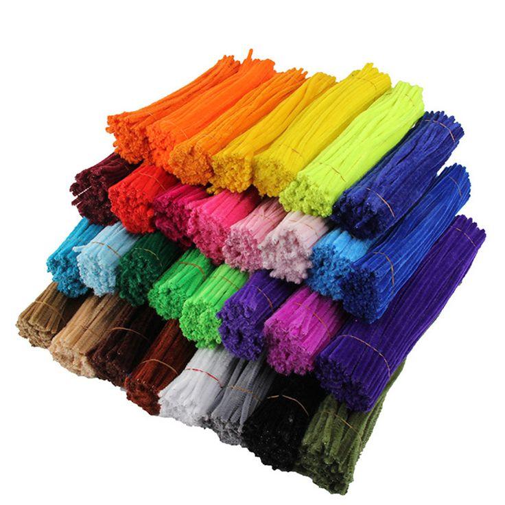 50 piezas de tallos de chenilla limpiadores de tubos de felpa para niños juguetes educativos …