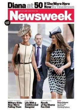 Newsweek celebró su cumpleaños número 50 con una portada conmemorativa en la que se ve a una Princes... - Foto: Archivo