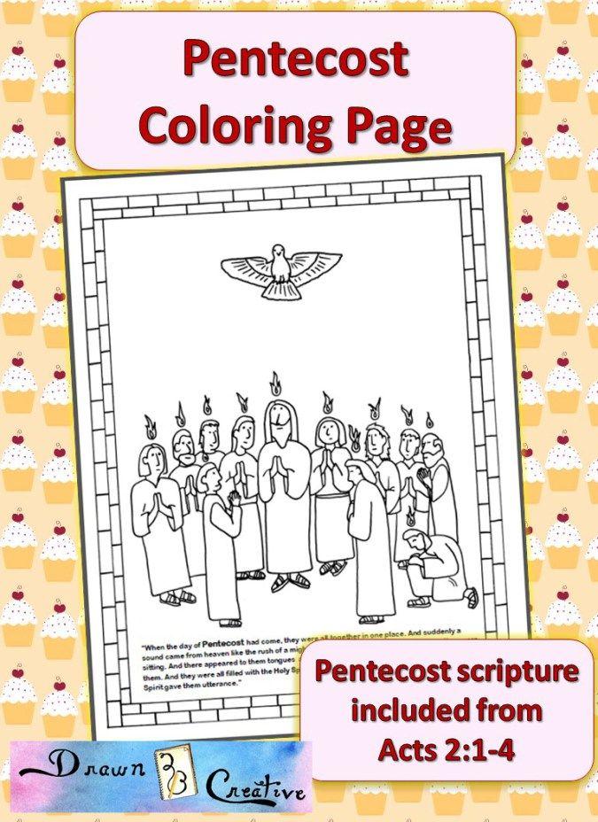 Pentecost Coloring Page Catholic