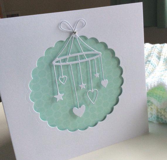 New Baby Congratulations Card  Baby Boy  Baby by BrindavanCrafts