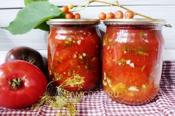Фото консервированных помидоров в собственном соку