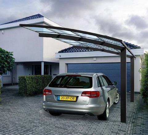 68 best carport images on pinterest garages car ports for Carport aluminium glas