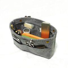 Клатч-органайзер для сумки из фетра серый