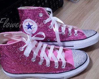 Glitter blu marino strass Converse scarpe converse di Flowerlodge