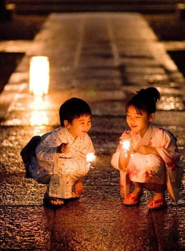 smiles and sparklers from Japan during Golden Week
