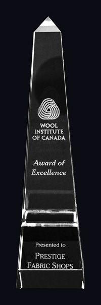 Vespa Optic Crystal Award Trophy