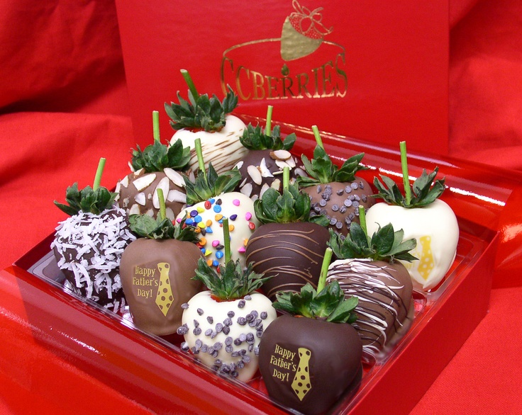 Chocolate covered strawberries for Father's Day http://www.ccberries.com/dad-berries-for-fathers-day-chocolate-covered-strawberries-delivered.html