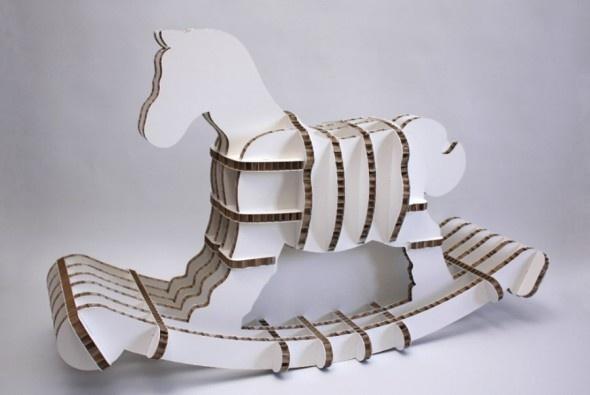 Cardboard Recycled Furniture Design Reggie Eco Rocker Shell Thomas London