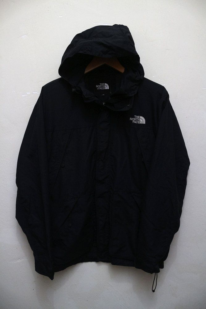 Vintage The NORTH FACE Hooded Hiking Ice Skiing Jacket Windbreaker by…