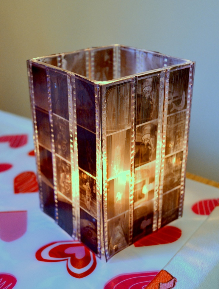 35mm Film Negative Candle Holder. I want learn how to do this