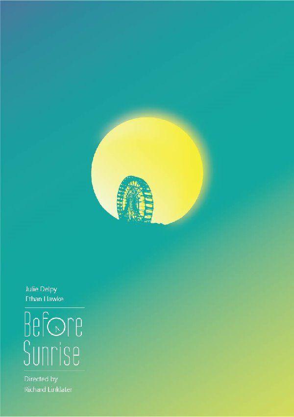 poster 1/3 about Richard Linklater's trilogy #film #design #minimalist…