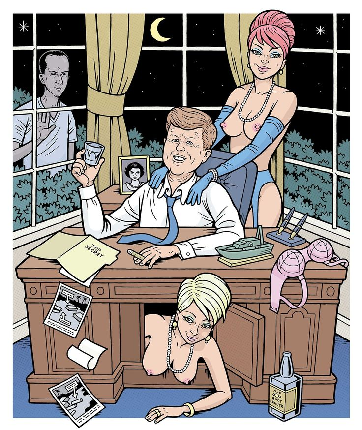 Here's an illo of JFK and Lee Harvey Oswald I just did for XPOSE, a new mag launched by Kevin Hein and the gang who used to do SCREW