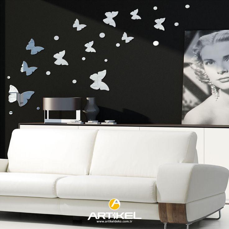 Evinizin dekorundan sıkıldıysanız, sade ve şık bir ayna sayesinde farklı bir dekor oluşturabilirsiniz.. #aynasticker #art #ayna