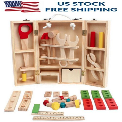 Kids Baby Educational Play Toys Sets Wooden Building Blocks Toddler learning toy #Unbranded