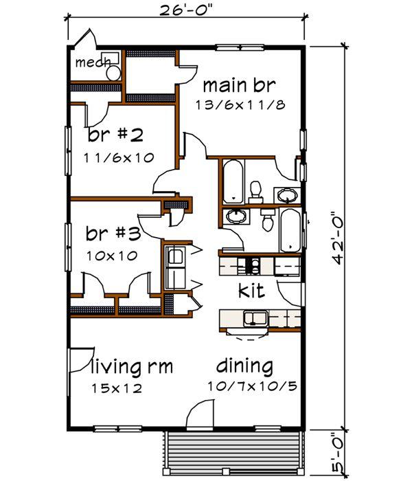 Superior Main Floor Plan 1092 Sq Ft