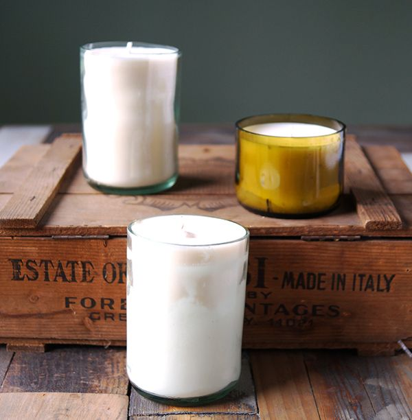 These DIY wine bottle candles make the perfect hostess gift.
