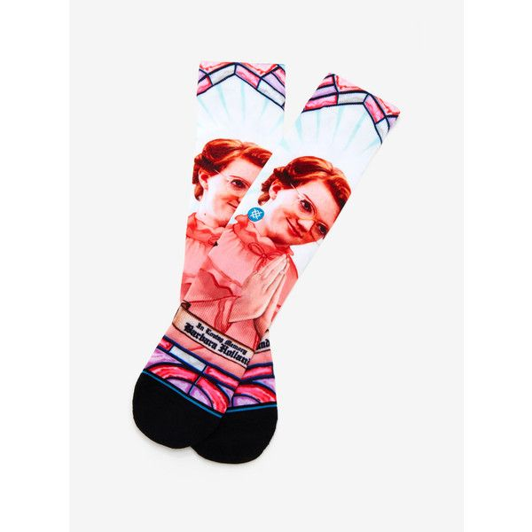Stance Stranger Things RIP Barb Socks (73 PLN) ❤ liked on Polyvore featuring intimates, hosiery, socks, seamless socks and no seam socks