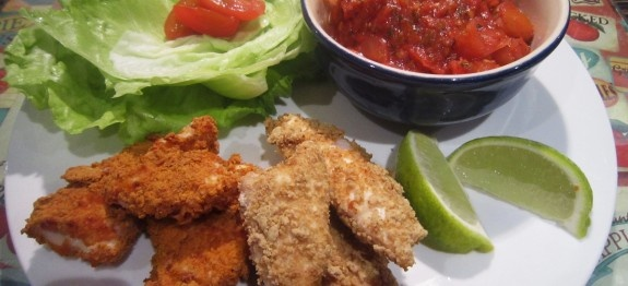 Healthy chicken goujons - perfect for those wanting to lose weight and get healthy