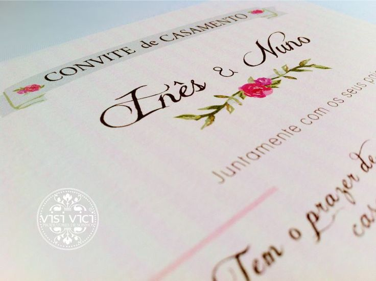 Convite de Casamento   Wedding invitation