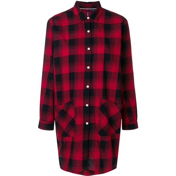 Woolrich checked flannel shirt (3,495 MXN) ❤ liked on Polyvore featuring tops, red, flannel shirt, red shirt, checked shirt, checkered top and red checkered shirt