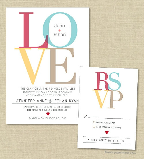 """love"" invitation"