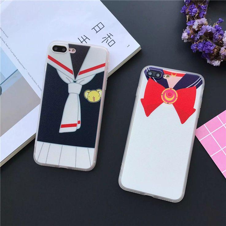 安い日本のファッション漫画アニメカードキャプターさくら&セーラームーンケースカバーのためのiphone 7 6 6 sプラス5 5 s se電話ケースcoque fundas、購入品質電話バッグ & ケース、直接中国のサプライヤーから: .......................................................   ご注意下さい:   1。注文< 7ドル、 いいえ追跡情報。中国のポスト普通小さなパケットプラスまたは売り手選択、選択