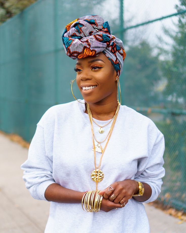 #pretty #headwrap #Wrapqns #makeup #wrapqueen #turban