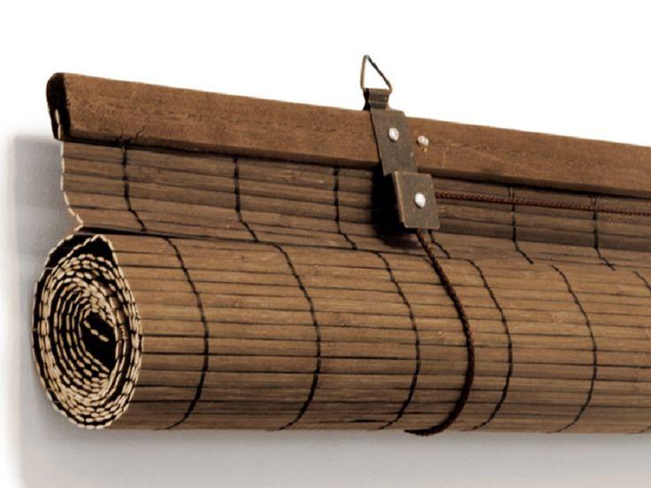 Bamboe rolgordijnen bruin