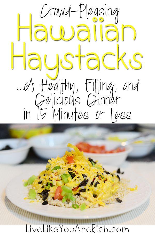 Hawaiian Haystacks Recipe Ready in 15 minutes or Less #LiveLikeYouAreRich