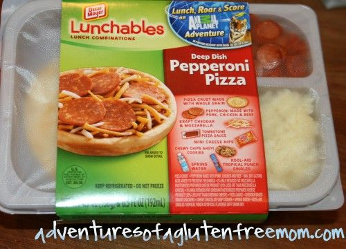How to make a gluten free pizza lunchable!