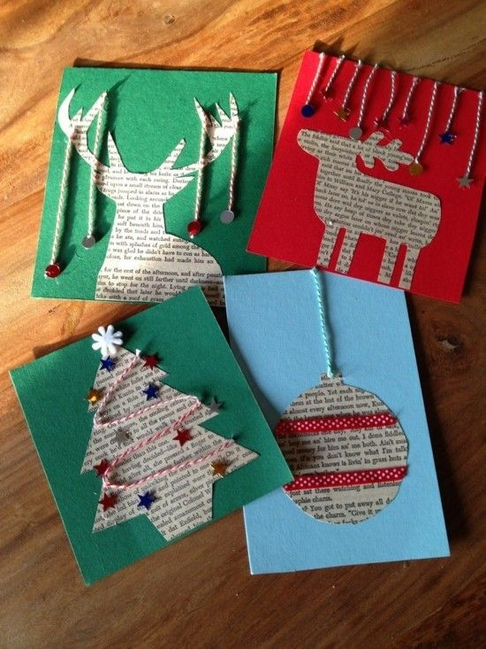Bilden Sie 60 ursprüngliche Weihnachtskarten mit Kindern – Weihnachtsbasteln