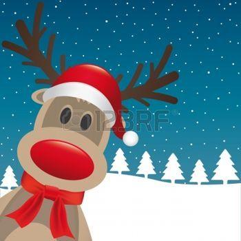 kerstman%3A+rudolph+rendier+rode+neus+santa+claus+hoed