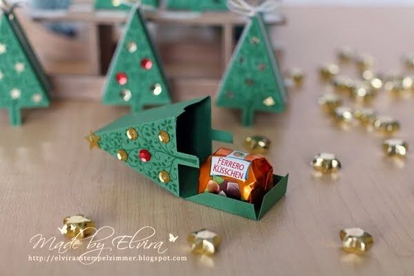 Conditionnement avec le poinçon Tannenbaum de Stampin Up