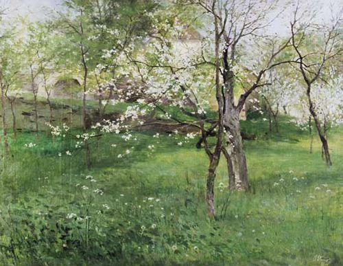 ANTONÍN SLAVÍČEK (1870-1910) Flowering garden in Okoř, Kvetoucí sad na Okoři