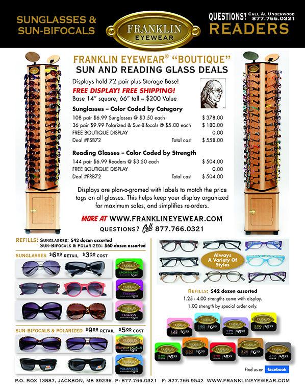 "Franklin Eyewear | ""Boutique"" Sun and Reading Glass Deals | 20Ways Winter Retail 2018"